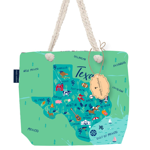 Simply Southern Canvas State Tote - Texas
