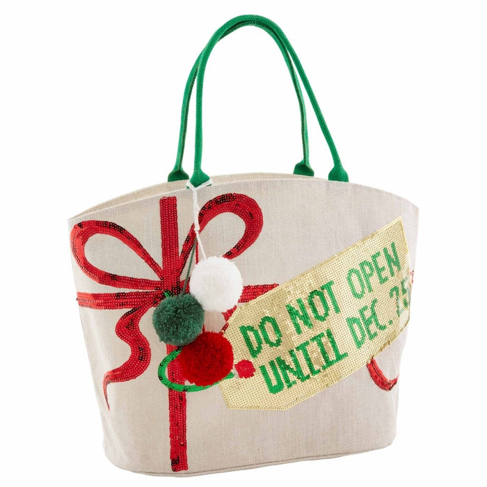 Do Not Open Christmas Tote