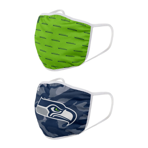 Seattle Seahawks 2 Pack Face Mask