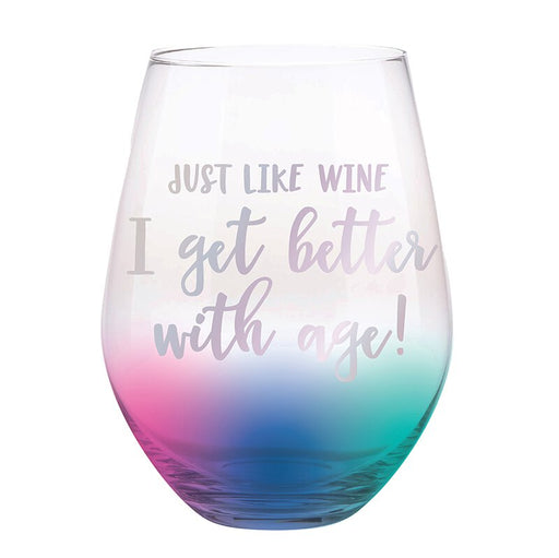 Better With Age Jumbo Stemless Wine Glass
