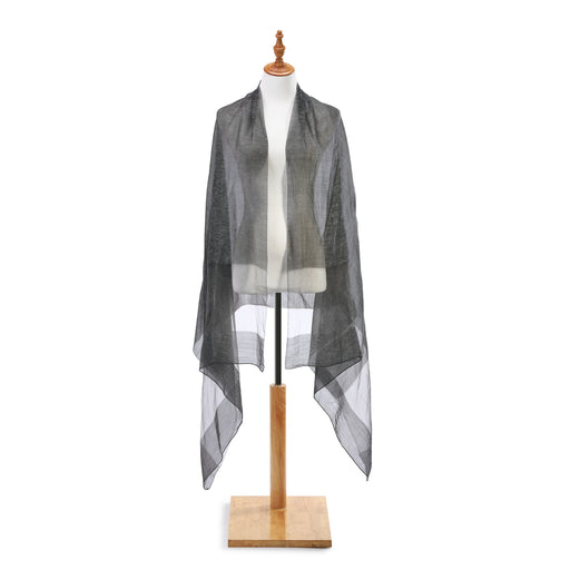 Sheer Wrap in Charcoal