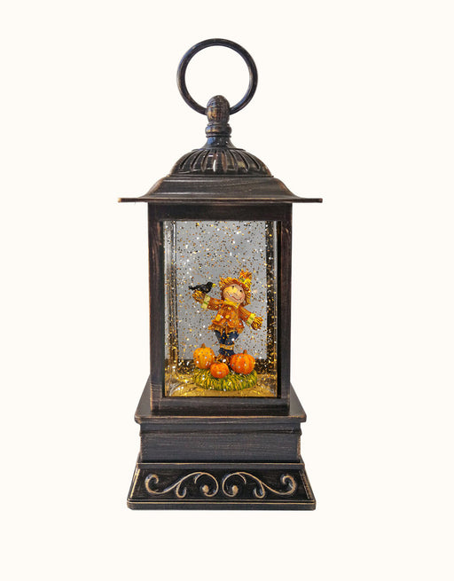 Welcome Fall Scarecrow LED Glitter Lantern