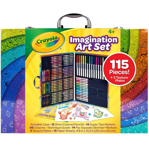 Imagination Art Set with Case - 115 Pieces