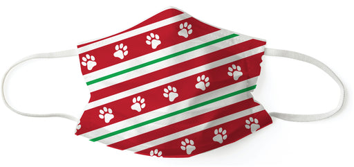 Holiday Paws - Kid's Disposable 3-Layer Face Mask (Set of 7)