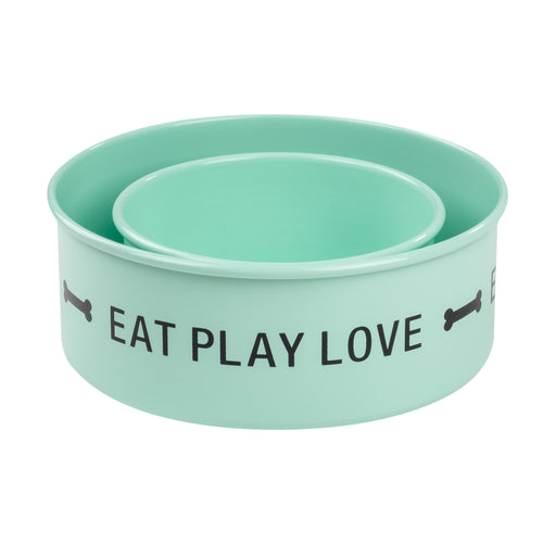 Eat Play Love Dog Bowl Set
