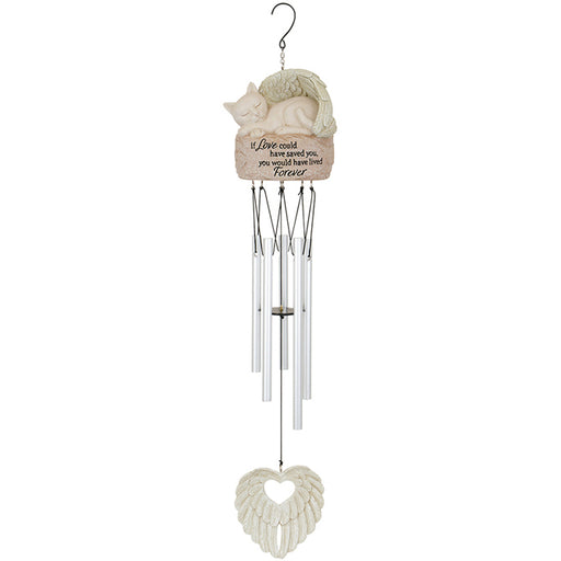 Cat Forever Angel Garden Chime