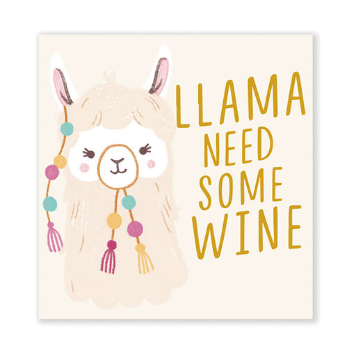 Llama Need Wine Cocktail Napkins