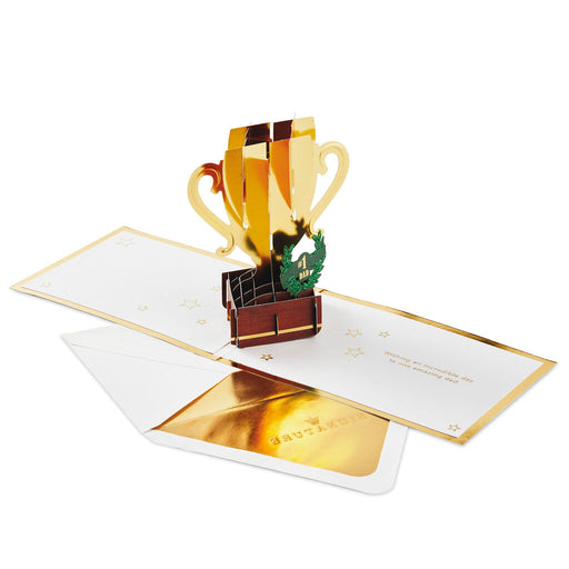 #1 Dad Trophy 3D Pop-Up Father's Day Card