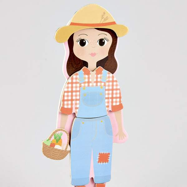 Wooden Magnetic Dress Up Doll