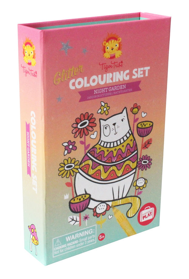 Night Garden Glitter Coloring Set