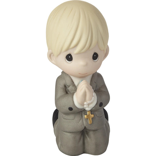 Remembrance Of My First Communion Boy Figurine