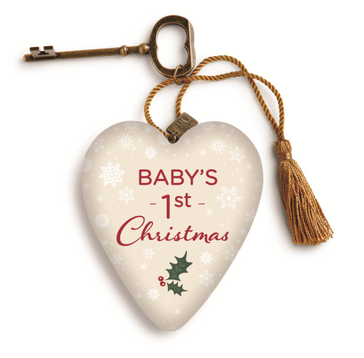 Baby's First Christmas Art Heart