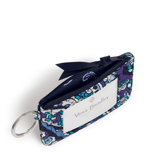 Vera Bradley Deep Night Paisley Zip ID Case