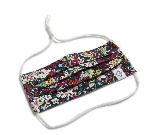 Vera Bradley Itsy Ditsy Pleated Mask with Adjustable Elastic