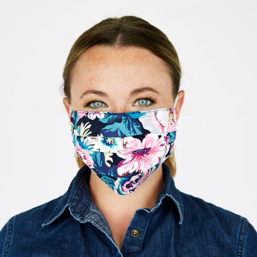 Vera Bradley Adult Bonbon Medallion Pleated Mask with Adjustable Elastic