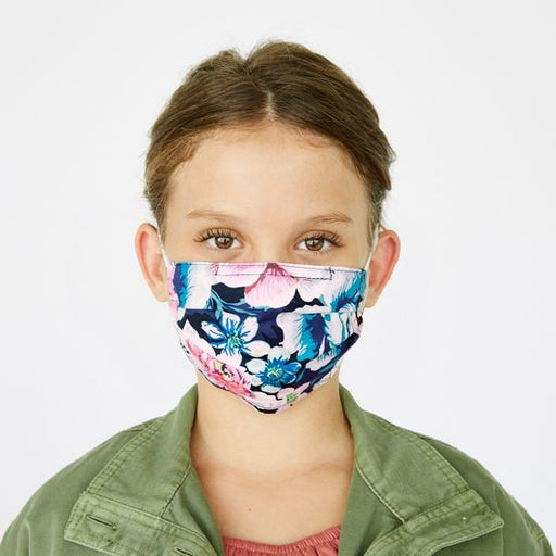 Vera Bradley Youth Bon-Bon Medallion Pleated Mask with Adjustable Elastic