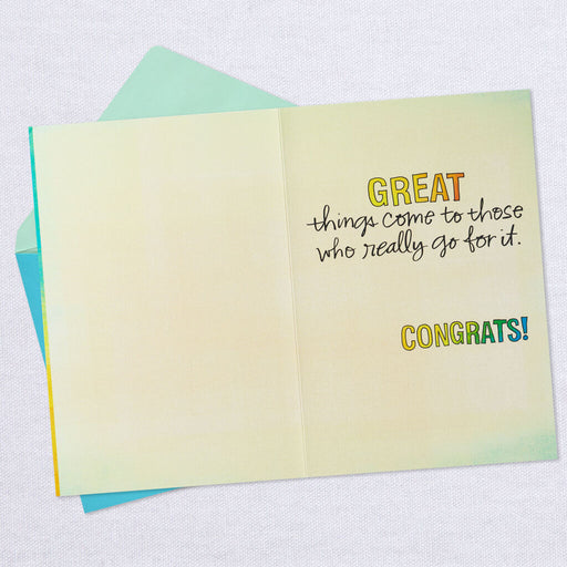 Good Things, Great Things Congratulations Card