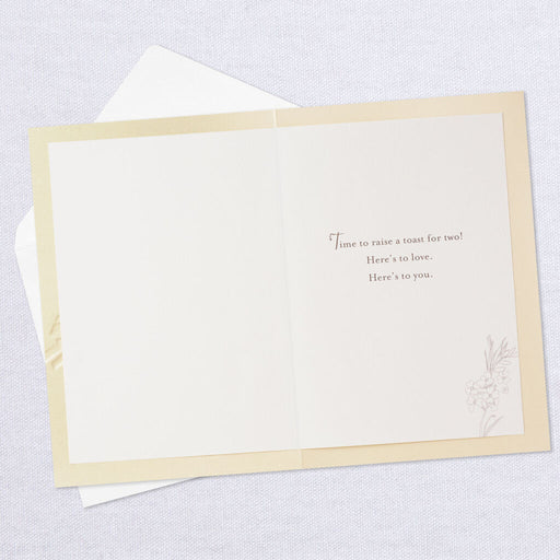 Toast for Two Wedding Card