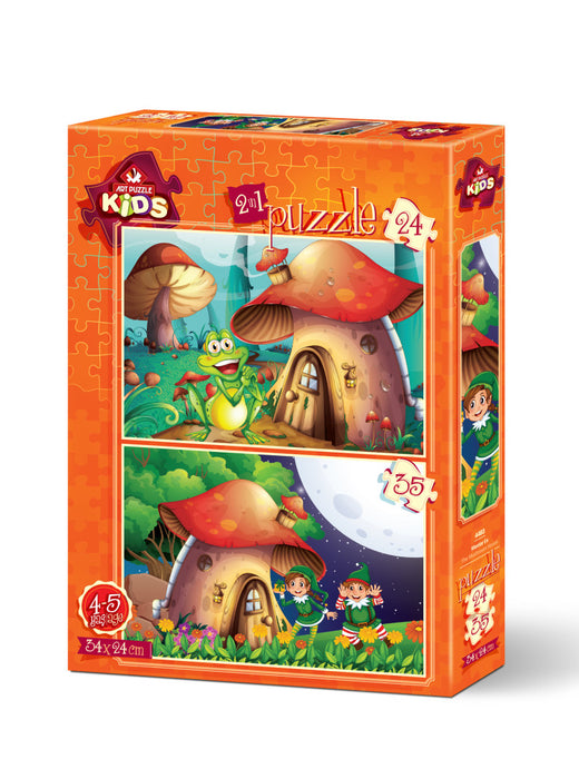 2 in 1 Mushroom House Piece Jigsaw Puzzle