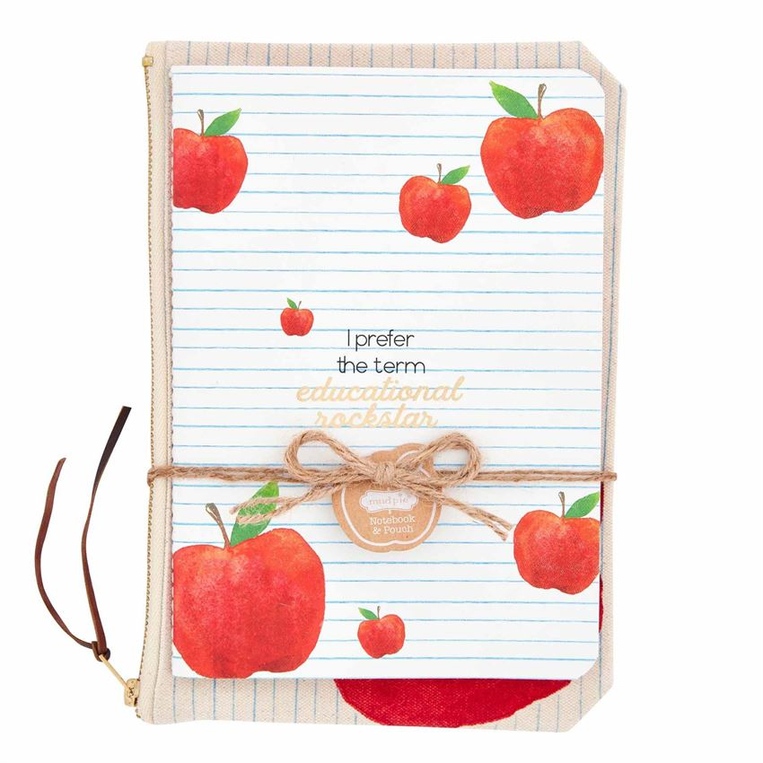 Apple Teacher Notebook & Pouch Set