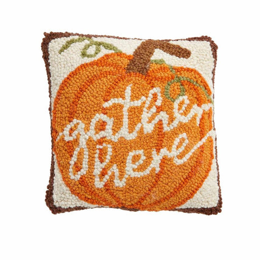 Gather Here Mini Hooked Pillow