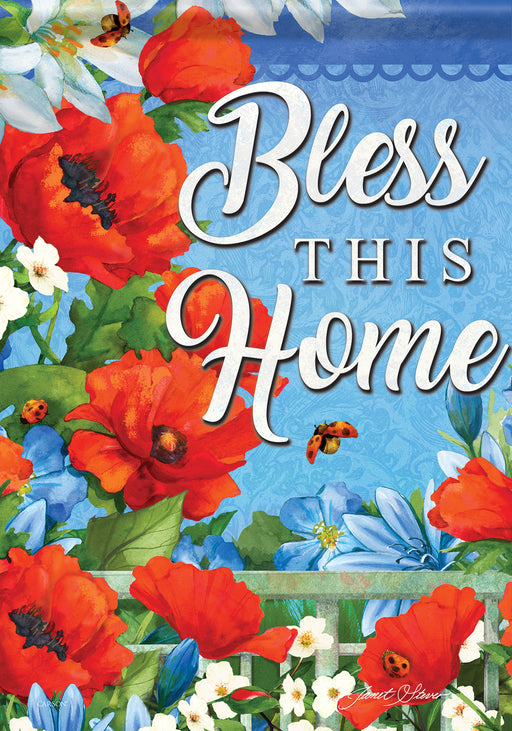 """Bless This Home"" Garden Flag"