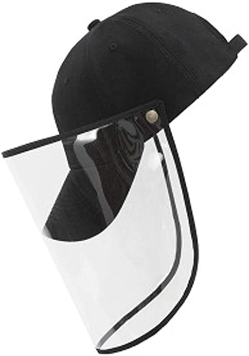 Baseball Cap with Detachable Face Shield