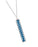 Jilzarah Navajo Blue Silver Vertical Bar Necklace