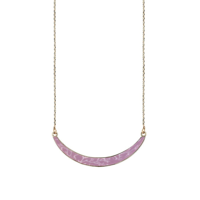 Jilzarah  Summer Sand Gold Reversible Curve Necklace