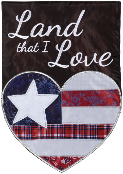 """Land I Love"" Double Applique Garden Flag"