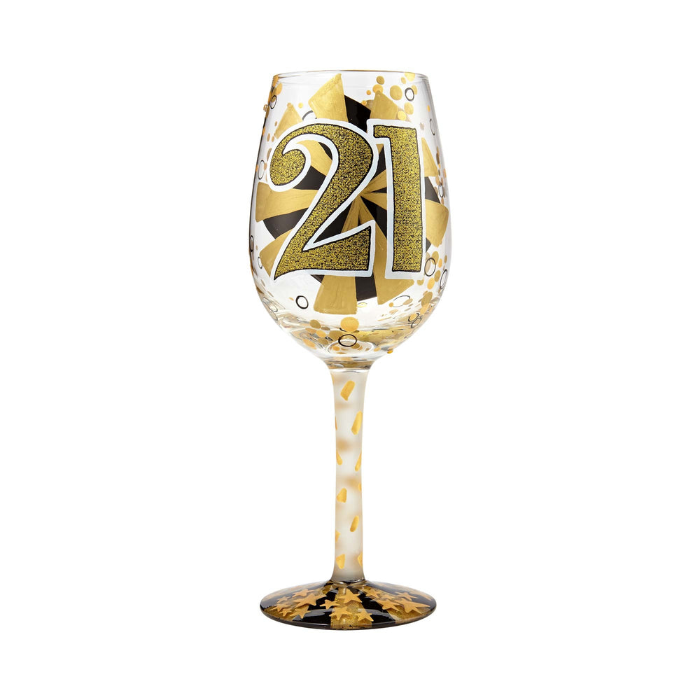 21st Birthday Lolita Wine Glass