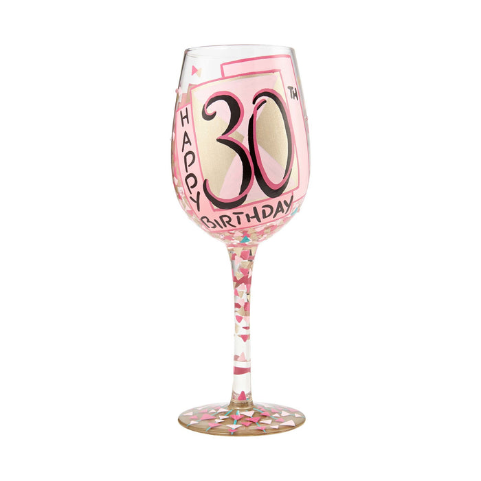 30th Birthday Lolita Wine Glass