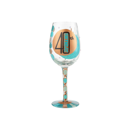 40th Birthday Lolita Wine Glass