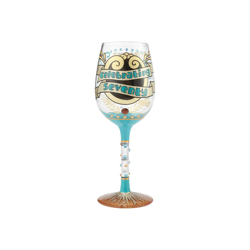 70th Birthday Lolita Wine Glass