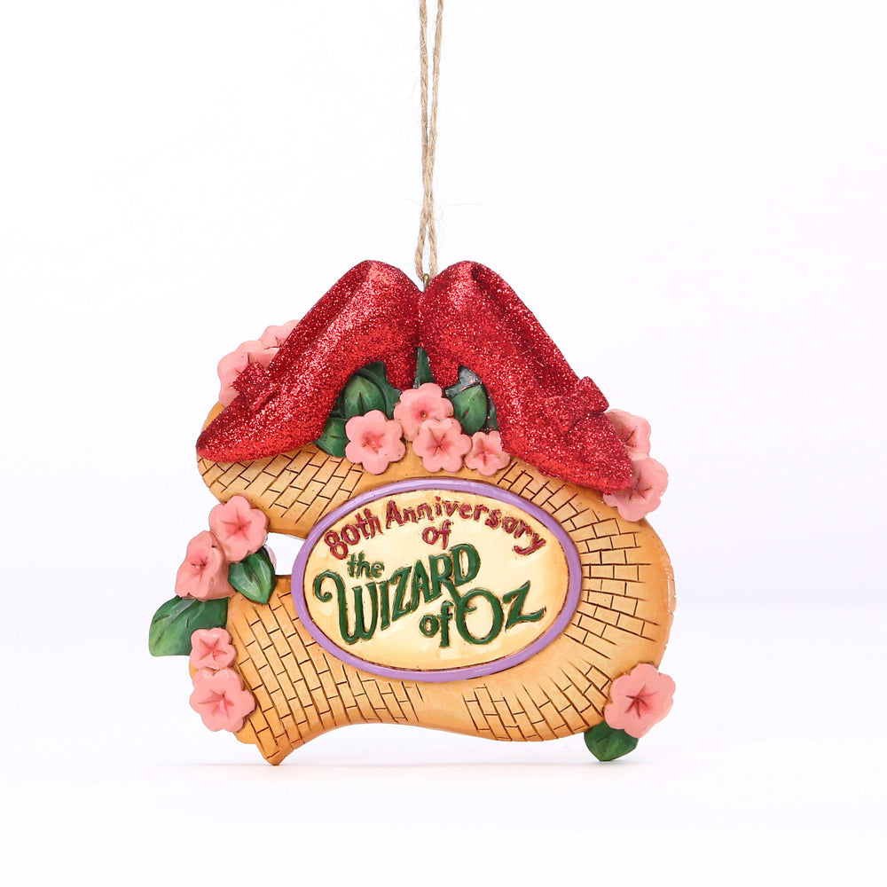 Wizard of Oz 80th Ruby Slippers Ornament