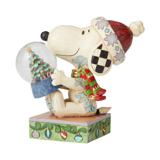 Snoopy with Snowglobe by Jim Shore