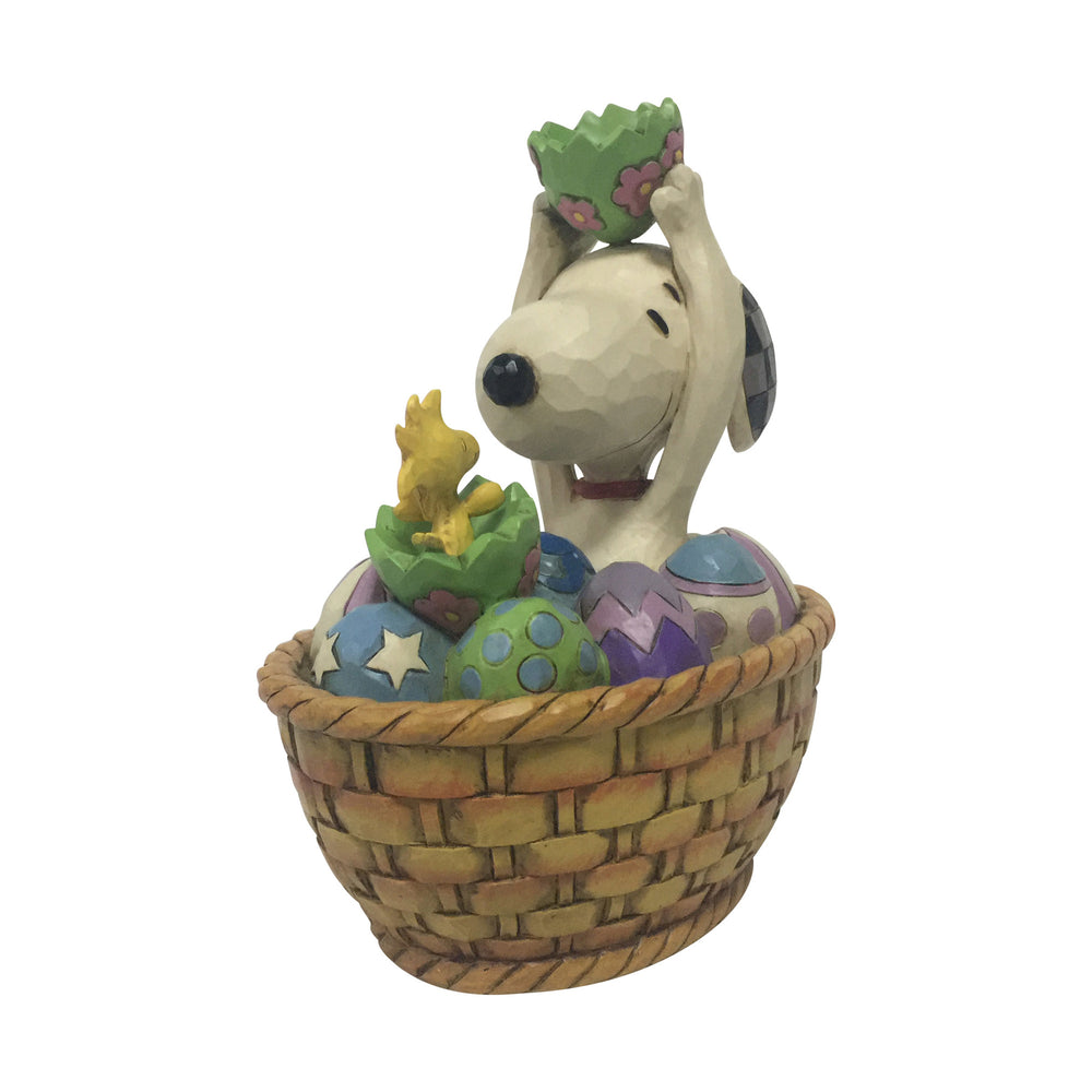 Snoopy and Woodstock Easter Basket by Jim Shore