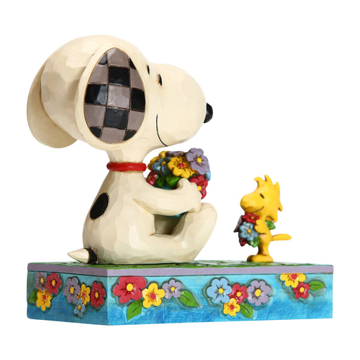 Snoopy and Woodstock with Flowers by Jim Shore