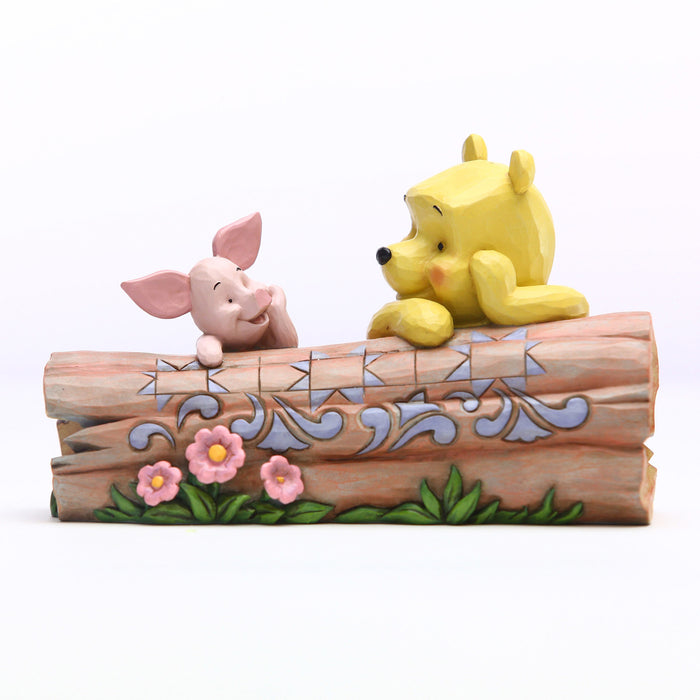 Pooh and Piglet by Log