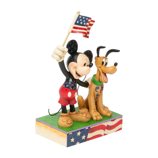 Patriotic Mickey and Pluto