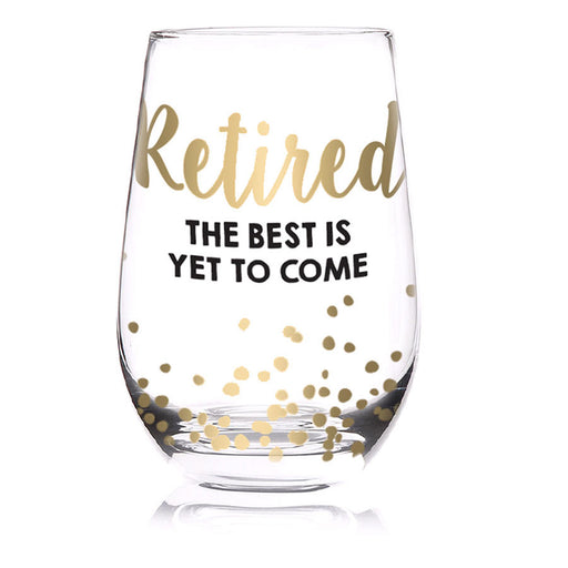 Retired Stemless Wine Glass