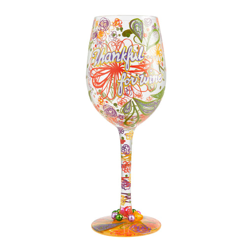 Thankful for Wine Lolita Wine Glass