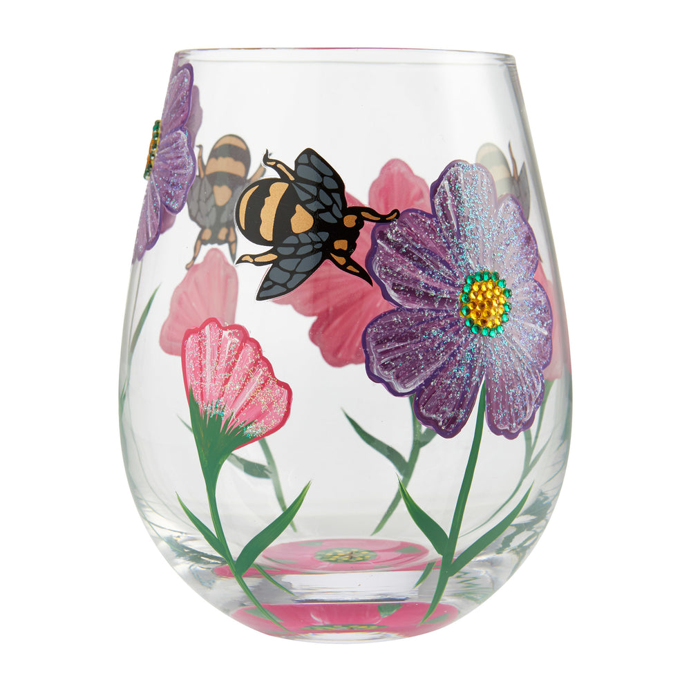 My Drinking Garden Stemless Lolita Wine Glass