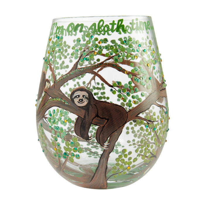 Sloth Time Stemless Lolita Wine Glass