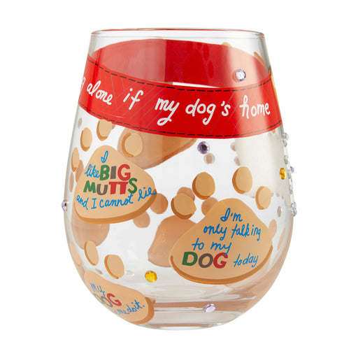 Love My Dog Stemless Lolita Wine Glass