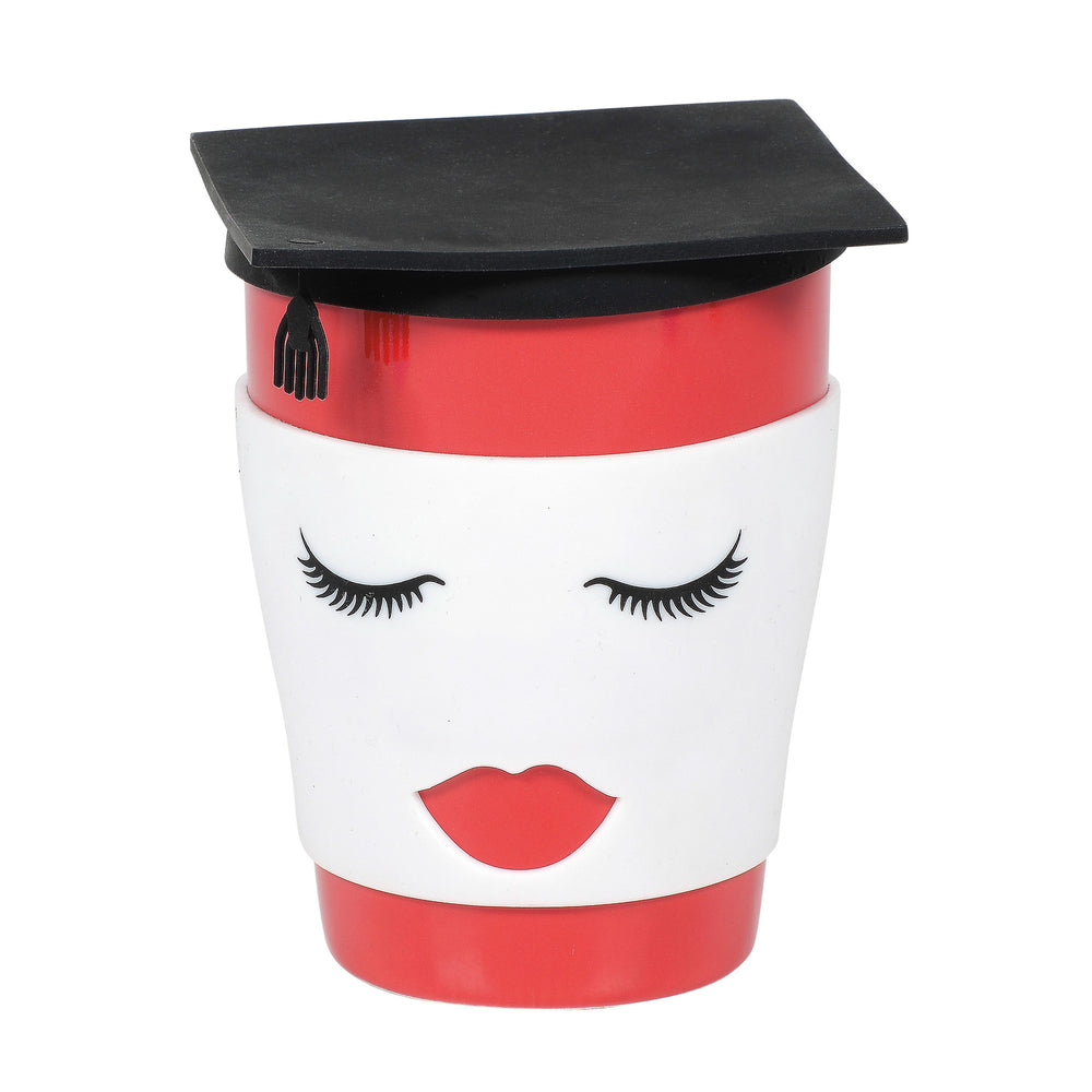 Female Grad Mug with Lid