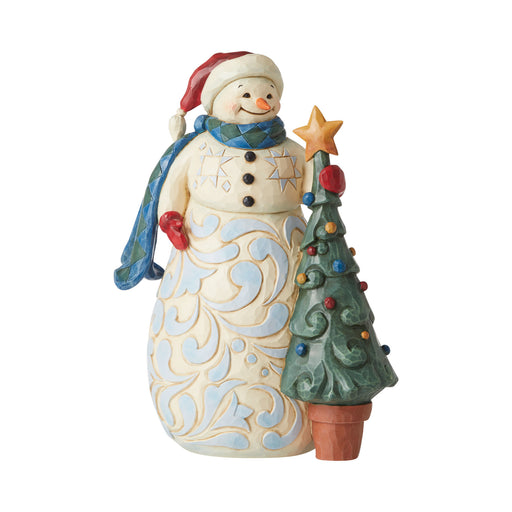 Snowman with Tree Figurine by Jim Shore