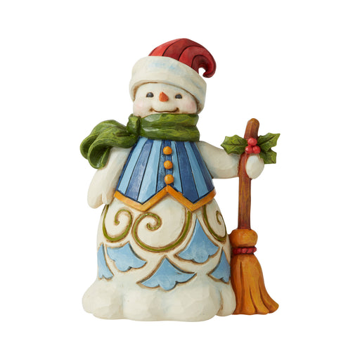 Pint Sized Snowman with Broom by Jim Shore