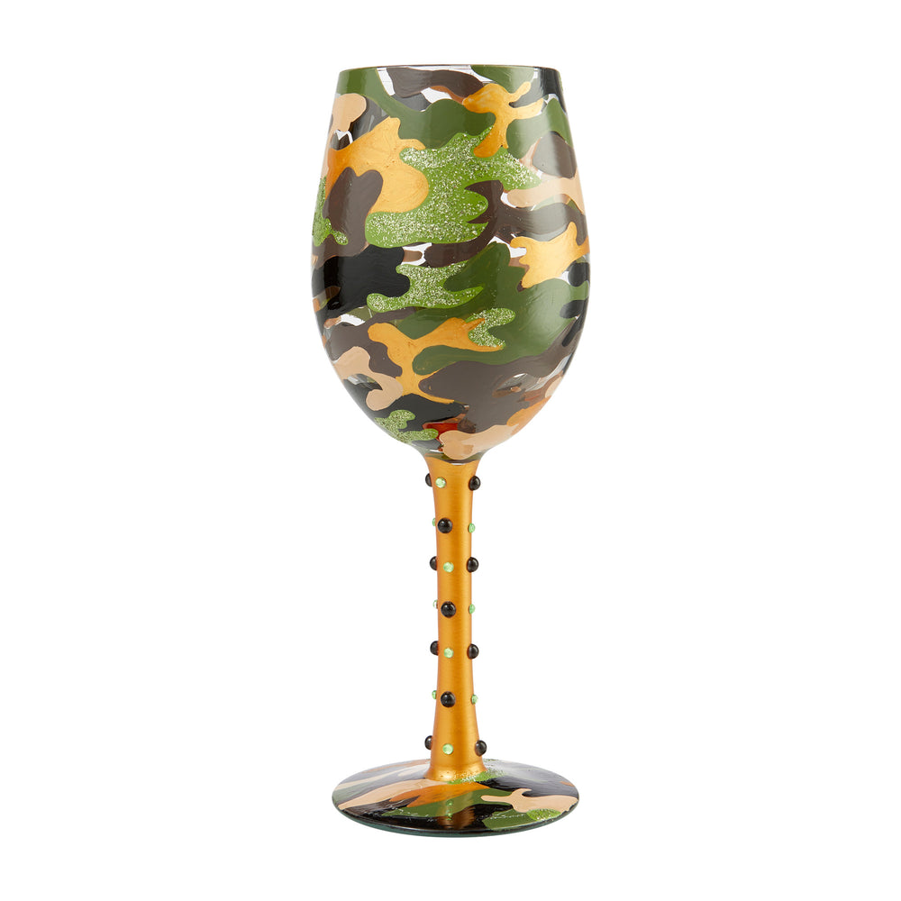 Camo Lolita Wine Glass