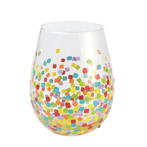 Confetti Stemless Lolita Wine Glass